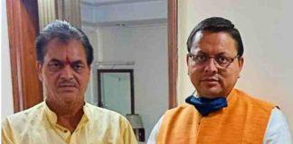 puhskar singh dhami with prem chand agrawal